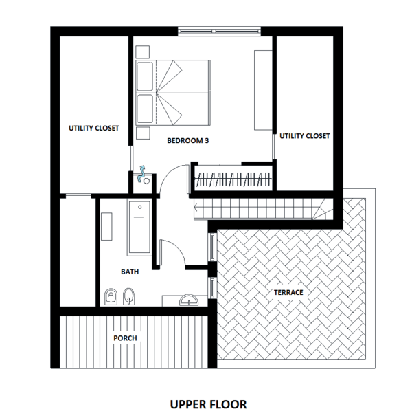 European Floor Plan - Upper Floor Plan #542-13