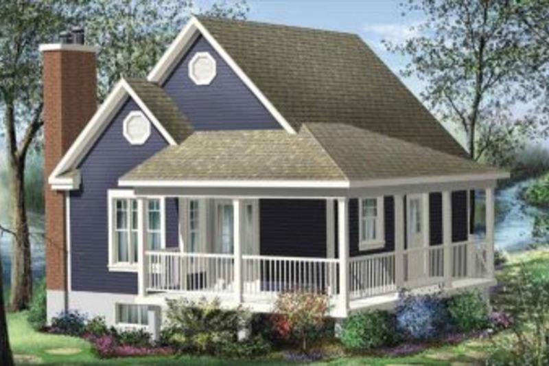 Cottage Exterior - Front Elevation Plan #25-4190