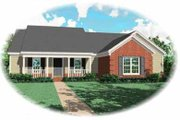 Traditional Style House Plan - 4 Beds 2 Baths 1756 Sq/Ft Plan #81-275 Exterior - Front Elevation