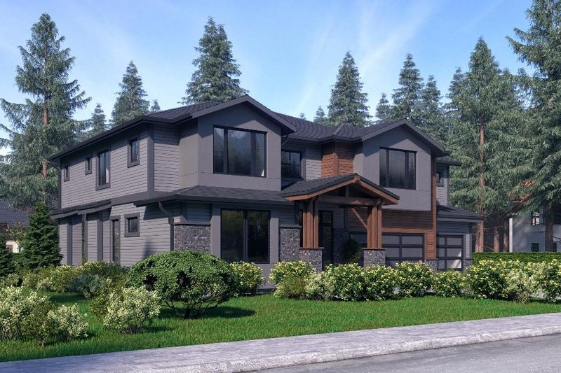 Traditional Style House Plan - 4 Beds 4 Baths 3598 Sq/Ft Plan #1066-52 Exterior - Other Elevation