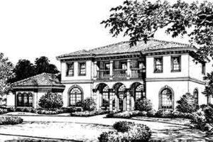 Mediterranean Exterior - Front Elevation Plan #135-110