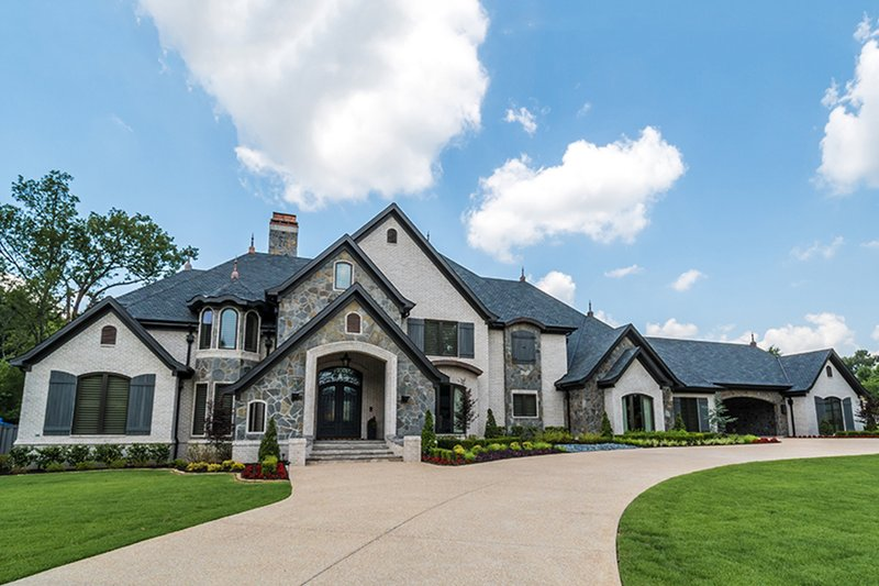 European Style House Plan - 5 Beds 6.5 Baths 7519 Sq/Ft Plan #923-112 Exterior - Front Elevation
