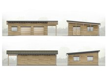 Contemporary Exterior - Other Elevation Plan #924-8