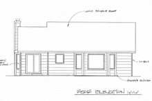Traditional Exterior - Rear Elevation Plan #58-158