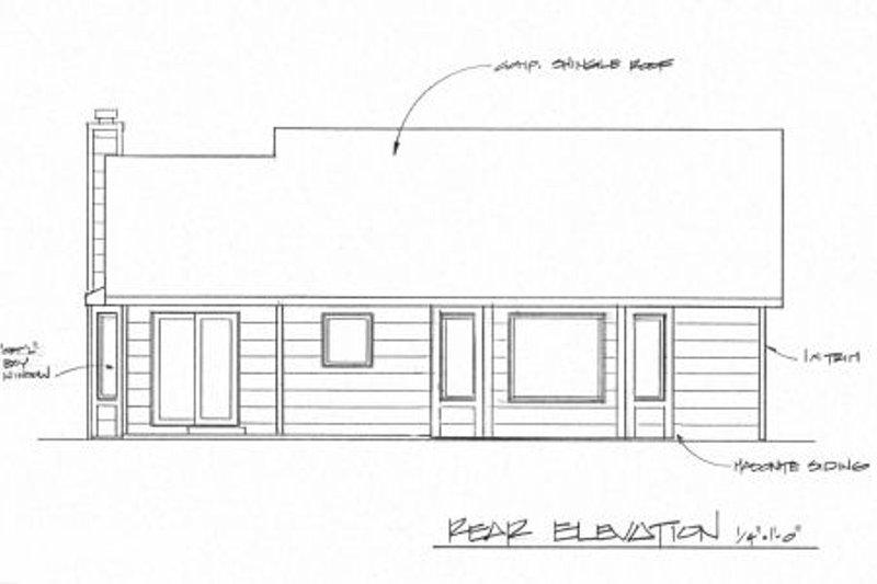 Traditional Exterior - Rear Elevation Plan #58-158 - Houseplans.com