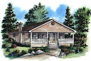 Dream House Plan - Ranch Exterior - Front Elevation Plan #18-161