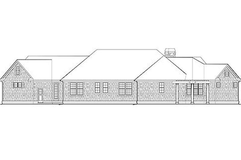 Traditional Exterior - Rear Elevation Plan #48-424 - Houseplans.com