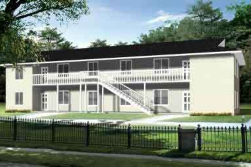 Traditional Style House Plan - 3 Beds 2 Baths 4384 Sq/Ft Plan #1-916 Exterior - Front Elevation