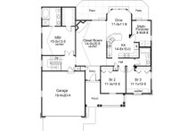 Traditional Floor Plan - Main Floor Plan Plan #57-368