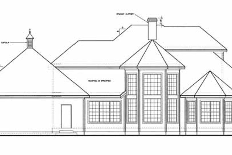 European Exterior - Rear Elevation Plan #20-1059 - Houseplans.com