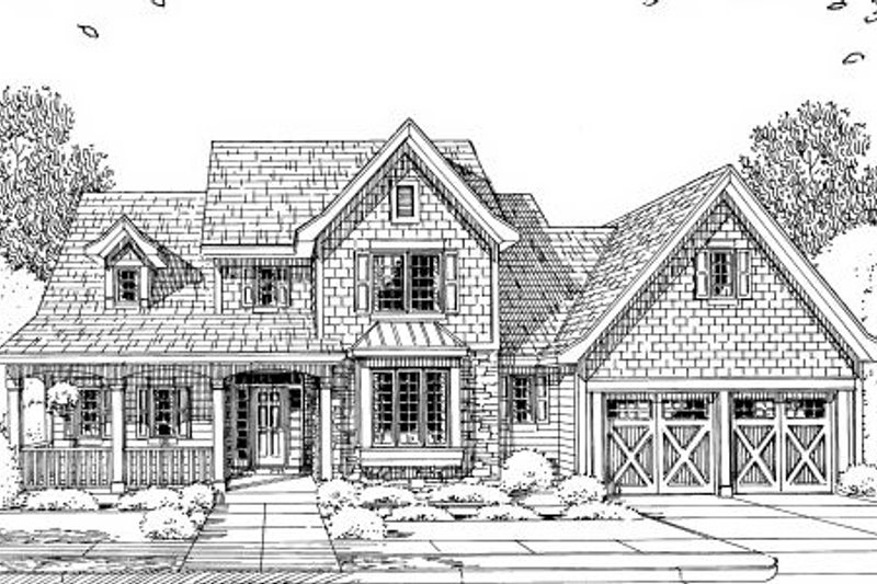 Craftsman Exterior - Other Elevation Plan #46-429 - Houseplans.com