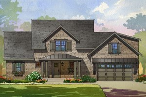 Cottage Exterior - Front Elevation Plan #901-138