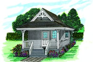 Cottage Exterior - Front Elevation Plan #47-639