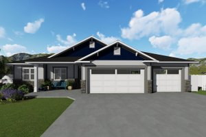 Home Plan - Ranch Exterior - Front Elevation Plan #1060-39