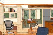 Craftsman Style House Plan - 2 Beds 2 Baths 1600 Sq/Ft Plan #454-13 Interior - Dining Room