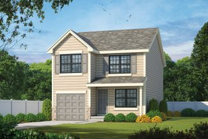 Architectural House Design - Traditional Exterior - Front Elevation Plan #20-2407