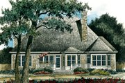 Traditional Style House Plan - 3 Beds 3.5 Baths 2860 Sq/Ft Plan #429-23 Exterior - Rear Elevation