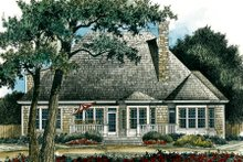Home Plan - Traditional Exterior - Rear Elevation Plan #429-23