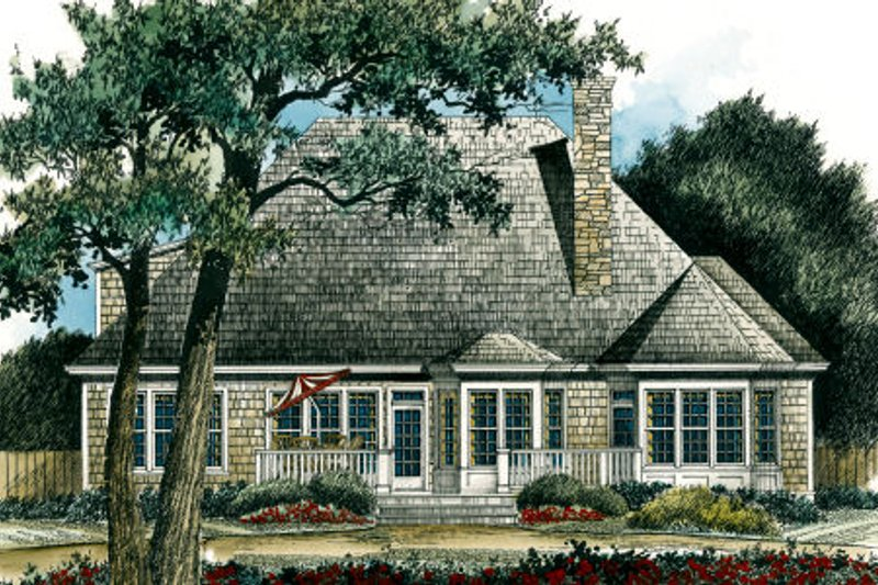 Traditional Exterior - Rear Elevation Plan #429-23 - Houseplans.com
