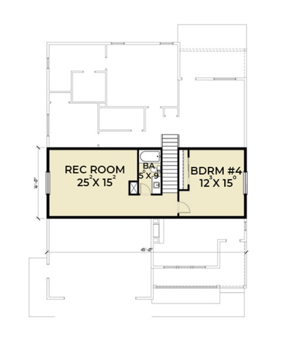 Craftsman Floor Plan - Upper Floor Plan Plan #1070-20
