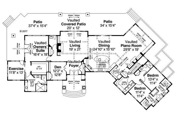 European Floor Plan - Main Floor Plan Plan #124-1062