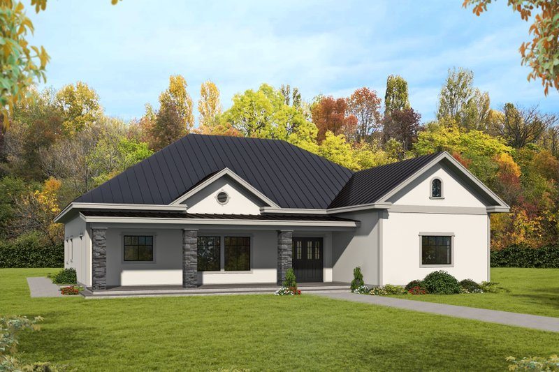 Home Plan - Ranch Exterior - Front Elevation Plan #117-906