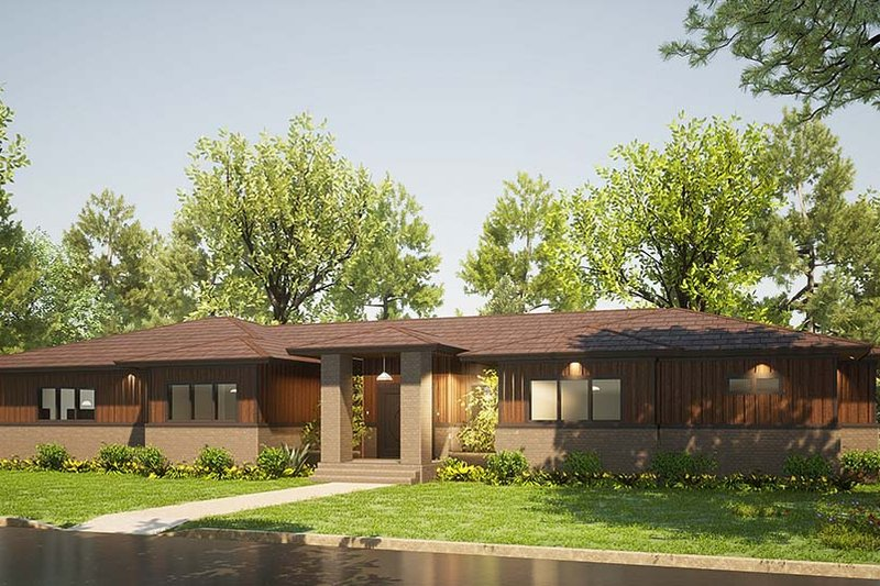 Architectural House Design - Contemporary Exterior - Front Elevation Plan #923-201