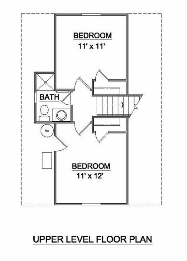 Tudor Floor Plan - Upper Floor Plan #116-111