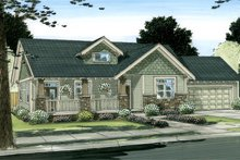 House Plan Design - Craftsman Exterior - Front Elevation Plan #126-142