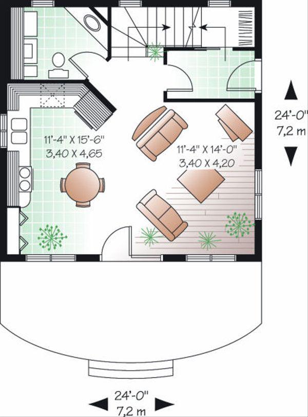 European Floor Plan - Main Floor Plan Plan #23-848
