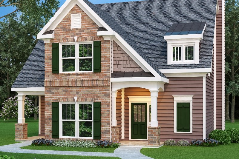 Traditional Exterior - Front Elevation Plan #419-210