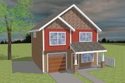 Craftsman Style House Plan - 3 Beds 2.5 Baths 1474 Sq/Ft Plan #423-59