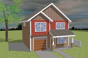 Craftsman Exterior - Front Elevation Plan #423-59