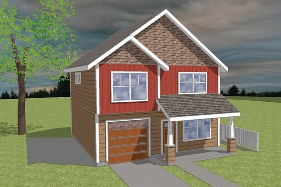 Craftsman Exterior - Front Elevation Plan #423-59