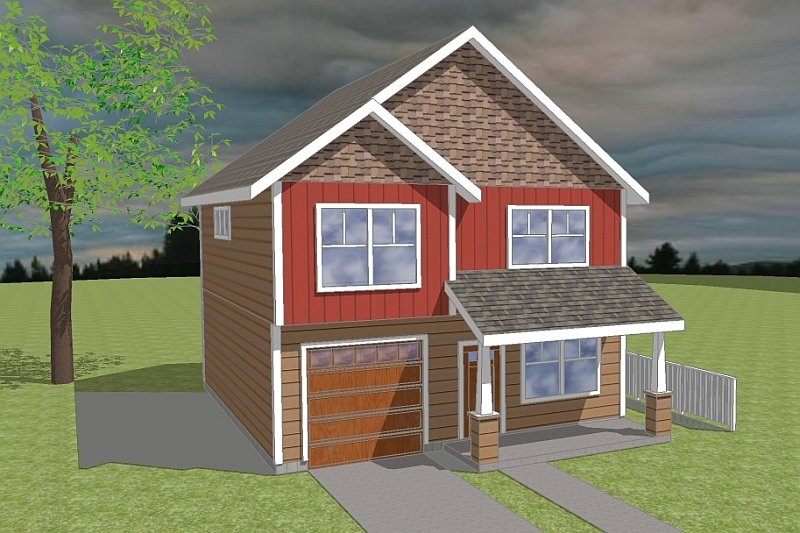 Craftsman Style House Plan - 3 Beds 2.5 Baths 1474 Sq/Ft Plan #423-59 Exterior - Front Elevation