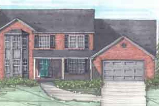 Traditional Exterior - Front Elevation Plan #136-113