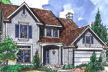 Architectural House Design - Country Exterior - Front Elevation Plan #320-452