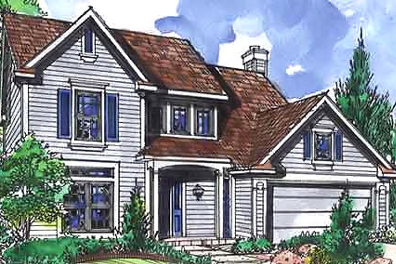 Country Exterior - Front Elevation Plan #320-452