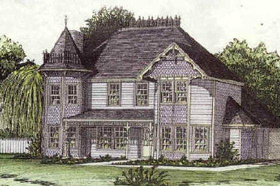 Victorian Exterior - Front Elevation Plan #16-203