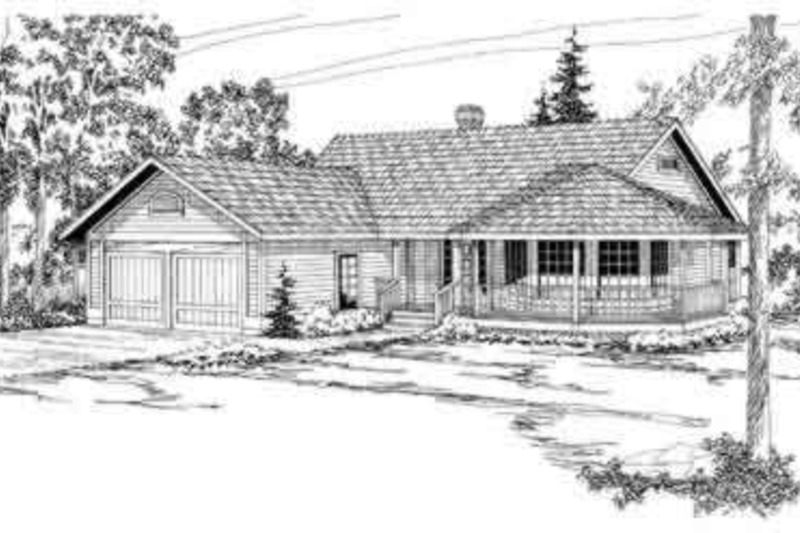Traditional Exterior - Front Elevation Plan #124-154 - Houseplans.com