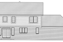 House Design - Traditional Exterior - Rear Elevation Plan #46-496