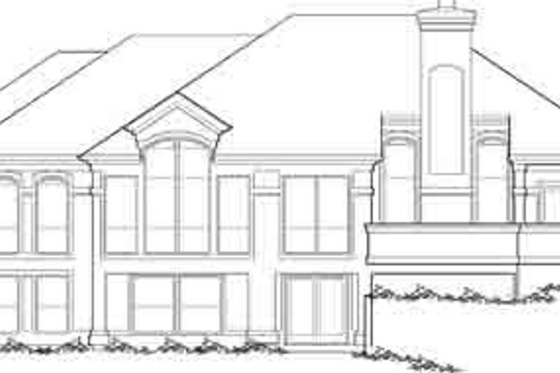Mediterranean Exterior - Rear Elevation Plan #48-231 - Houseplans.com