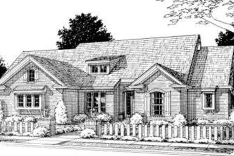Traditional Style House Plan - 3 Beds 3 Baths 1980 Sq/Ft Plan #20-1556 Exterior - Front Elevation