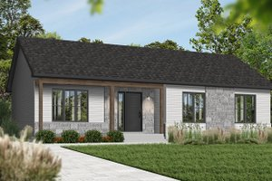 Ranch Exterior - Front Elevation Plan #23-197