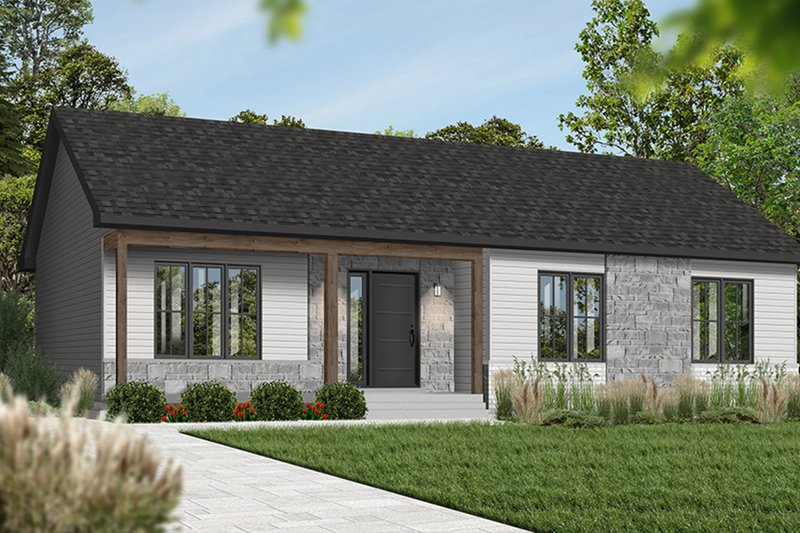 Home Plan Design - Ranch Exterior - Front Elevation Plan #23-197