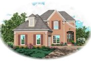 European Style House Plan - 3 Beds 2.5 Baths 2489 Sq/Ft Plan #81-762 Exterior - Front Elevation