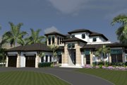 Mediterranean Style House Plan - 4 Beds 5 Baths 4080 Sq/Ft Plan #548-15 Exterior - Front Elevation
