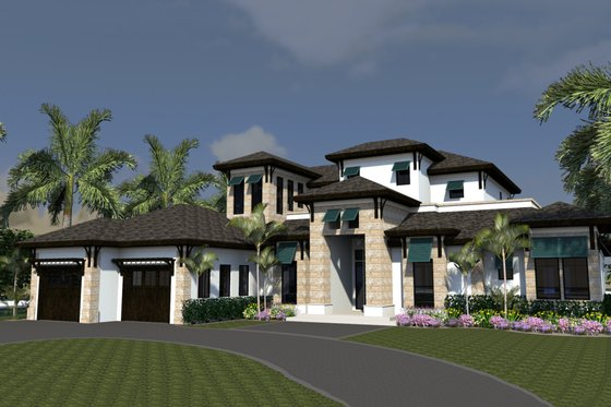Mediterranean Exterior - Front Elevation Plan #548-15