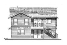 Home Plan Design - Traditional Exterior - Rear Elevation Plan #18-272