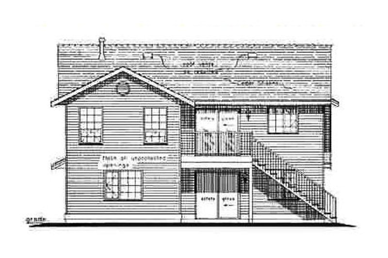 Traditional Exterior - Rear Elevation Plan #18-272 - Houseplans.com